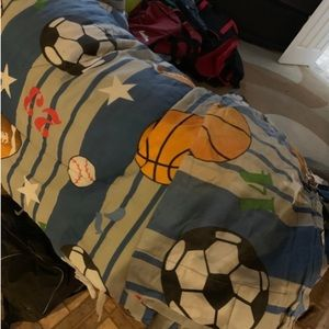 Sports bed set come with curtains